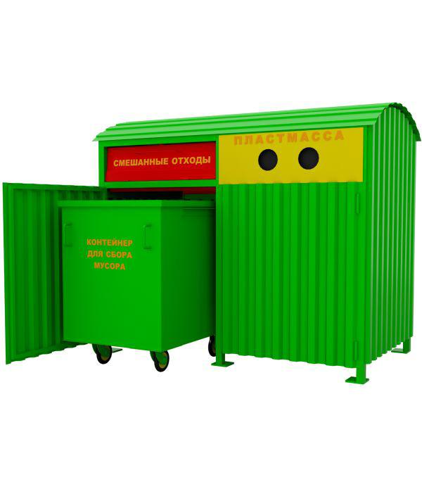 Модуль для раздельного сбора мусора КМ-009